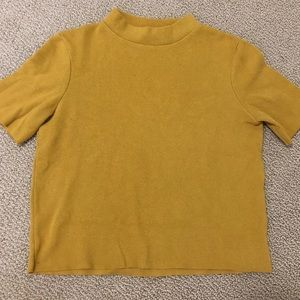 Cute yellow Zara mock neck